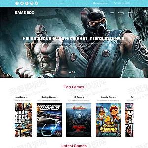 国外宽屏的单机游戏网站介绍模板html下载