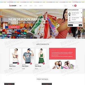 大气的时尚服装购物网站响应式商城模板html