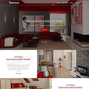 全屏大气的室内装饰公司网站模板html下载