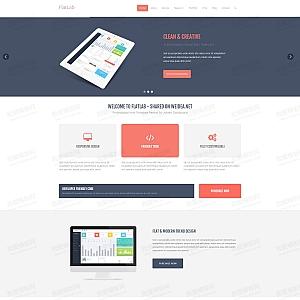 扁平风格的IT软件公司网站HTML5响应式模板