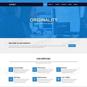 蓝色宽屏的软件编程公司网站模板html整站