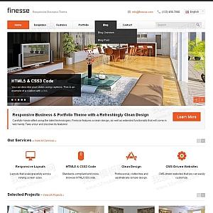 简洁的室内装饰公司网站模板html5响应式模板下载