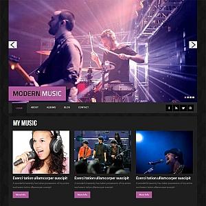 黑色bootstrap响应式音乐酒吧网站模板下载