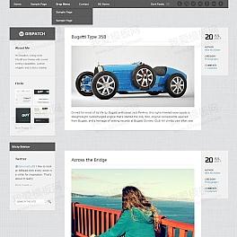 国外简单的记录个人日志的博客网站模板html全站下载