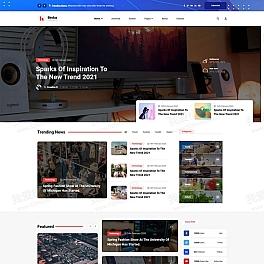 多用途的行业资讯博客网页html模板