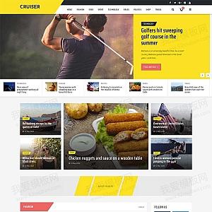 黄色风格时尚资讯博客网站静态HTML模板