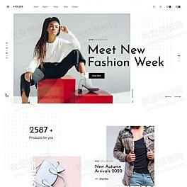 时尚服装商店HTML模板