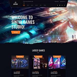 电竞游戏工作室网站html5模板