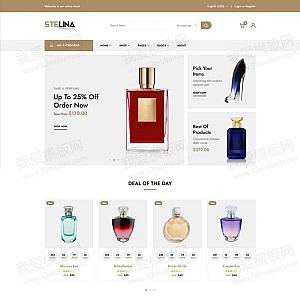 品牌香水店铺网站HTML模板