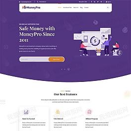 高收益投资理财服务企业网页模板