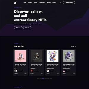 艺术品拍卖平台html模板