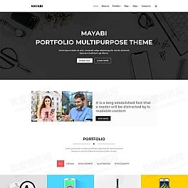 Bootstrap品牌vi设计公司网站模板