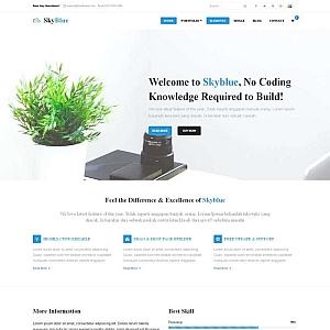 蓝色宽屏的商务公司网站bootstrap响应式模板