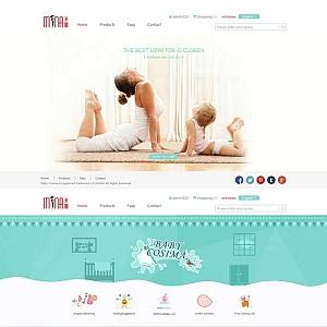 简洁的外贸婴儿用品网站响应式模板下载