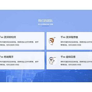 团队人员介绍网格布局特效