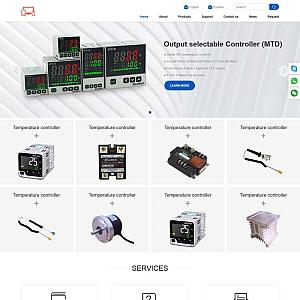 英语版本的电子设备外贸企业网站模板