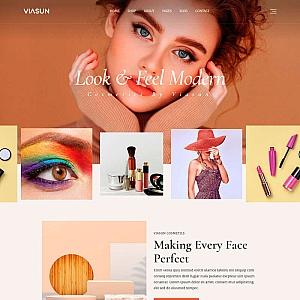 品牌化妆品商店官网html模板