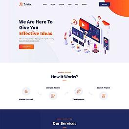数字营销网络公司HTML模板
